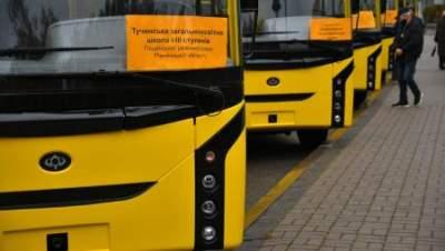 Ровенская область получила 15 новых автобусов для местных школ